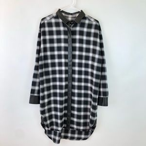 Petite Banana Republic Plaid Flannel Shirt Dress